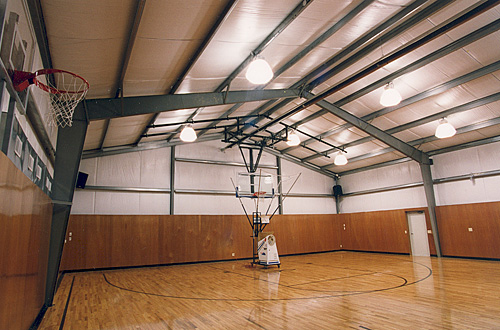 Steel sports arenas and metal gymnasiums for Build indoor basketball court